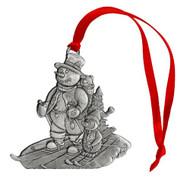 Snowman Skiing - Ornament