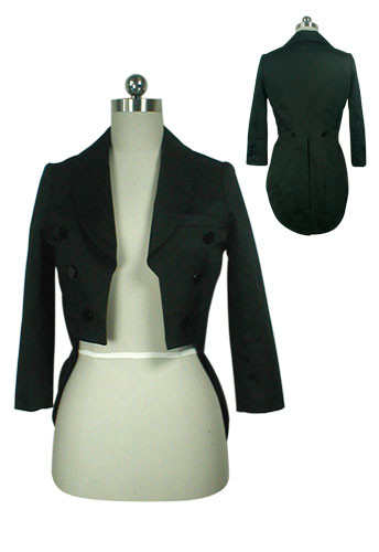 Black Vintage Tight Tuxedo Jacket