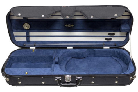 CC525 Luxury Suspension Adjustable Viola Case Open