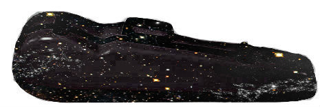 Black Sparkle Fiberglass Core Suspension Violin Case