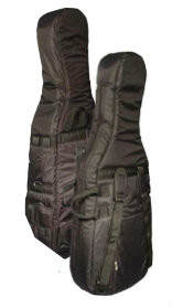 Thickly Padded Black Cordura Cello Cover