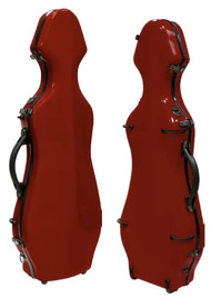 Red Fiberglass Violin Case Cello-Shaped