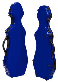 Dark Blue Fiberglass Violin Case Cello-Shaped
