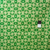 Mark Cesarik PWMC020 Cosmic Burst Solar Panels Green Fabric By The Yard