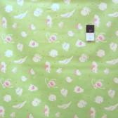 David Walker DW56 Baby Talk Animal Toss Green Cotton Fabric By Yard