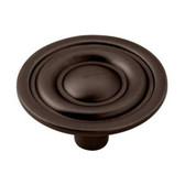 """P635BCH-VBR  1 5/16"""" Venetian Bronze Round Target Cabinet Drawer Pull Knob"""