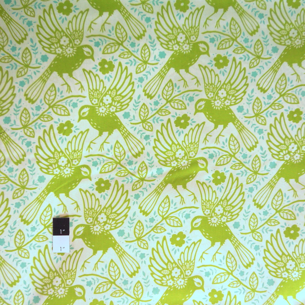 Heather Bailey Pwhb047 Up Parasol Meadowlark Chartreuse Fabric