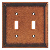 135765 Ruston Sponged Copper Double Switch Cover Plate