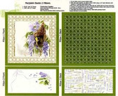 Marjolein Bastin PCMB001 Nature's Palette Pillow Panel Green Fabric By Yard