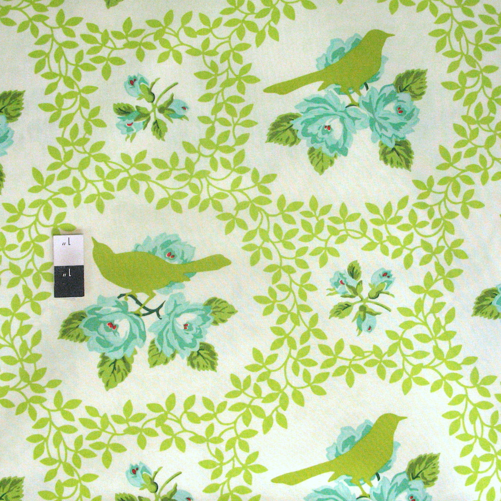 Heather Bailey Pwhb042 Up Parasol Mockingbird Chartreuse Fabric