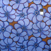 Brandon Mably PWBM056 Elephant Flower Blue Quilting Cotton Fabric By The Yard