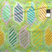 Kaffe Fassett PWGP153 Striped Heraldic Green Cotton Fabric By The Yard