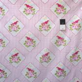 Tanya Whelan PWTW117 Zoey's Garden Framed Birdies Pink Cotton Fabric By Yd