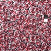 Alice Hickey PWAY005 Cottage Garden Hollyhock Peony Cotton Fabric By Yard