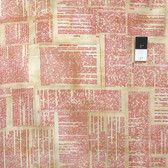 Tim Holtz PWTH008 Foundations Dictionary Red Cotton Fabric By The Yard
