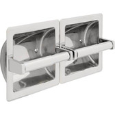 Commercial 44970-ST Stainless Steel Recessed Double Toilet Tissue Dispenser
