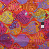 Brandon Mably PWBM051 Shoal Tomato Quilting Cotton Fabric By The Yard