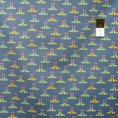 Timeless Treasures C4450 Fun Inchworm Denim Cotton Quilting Fabric By Yard