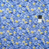 Fabric Traditions Allover Floral Blue Cotton Quilting Fabric By Yard