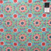 3 Wishes Karavan Multi Floral Blue Quilting Cotton Fabric By Yard