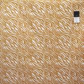 Camelot Fabrics Black & Tan Zebra Tan Cotton Quilting Fabric By Yard