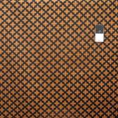 Camelot Fabrics Black & Tan Fleur Black Cotton Quilting Fabric By Yard
