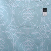 Joel Dewberry PWJD120 Wander Native Aqua Cotton Quilting Fabric By Yd