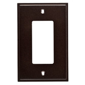 W35312-CO Simple Step Cocoa Bronze Single GFCI Cover Wall Plate