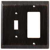 126392 Venetian Bronze Stately Single Switch / GFCI Cover Wall Plate