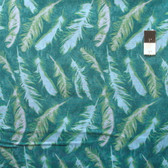 Nel Whatmore PWNW082 Ghost Feather Green Cotton Fabric By Yard
