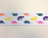 "Dinosaurs Fabric Grosgrain Ribbon 10 Yds 2 1/4"" Wide"