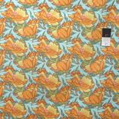 Victoria and Albert PWVA036 Vintage Florals Flourish Azure Fabric By Yard