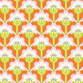 Heather Bailey True Colors PWTC015 Pop Blossom Persimmon Cotton Fabric By Yard