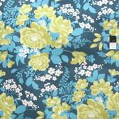 Joel Dewberry Flora Rose Bouquet Eucalyptus Cotton HOME DECOR Sateen Fabric