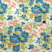 Joel Dewberry Flora Rose Bouquet Carrot Cotton HOME DECOR Sateen Fabric