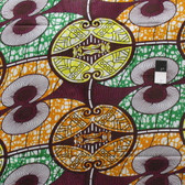 African Tribal Print T-5043 Multi-Color Polished Cotton Fabric By The Yard
