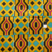 African Tribal Kente Print T-5016 Polished Cotton Fabric By The Yard