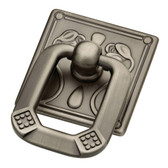 """Liberty P10113-904 1 5/16"""" Heirloom Silver Vintage Ring Cabinet Drawer Knob Pull"""