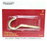 """Brainerd 351XC 3"""" Ceiling Hook Brass Plate"""