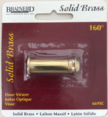 Brainerd 669XC 160° Wide Angle Door Viewer Solid Brass
