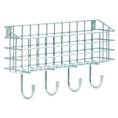 """Franklin Brass FBWMAIL4-ZP 15 3/4"""" Wire 4 Hook Wire Mail Holder"""
