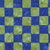 Kaffe Fassett BKKF006 Artisan Batik Chess Cobalt Cotton Fabric By The Yard