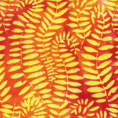 Kaffe Fassett BKKF002 Artisan Batik Fronds Tangerine Cotton Fabric By The Yard