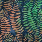 Kaffe Fassett BKKF002 Artisan Batik Fronds Blue Cotton Fabric By The Yard