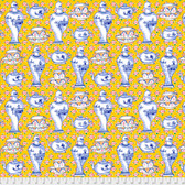 Kaffe Fassett PWGP165 Delft Pots Yellow Cotton Quilting Fabric By The Yard