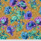 Philip Jacobs PwPJ090 Baroque Floral Blue Cotton Quilting Fabric By Yard