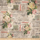 Tim Holtz PWTH035 Wallflower Rose Parcel Multi Cotton Fabric By Yard