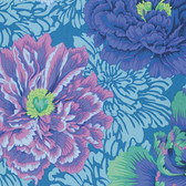 Philip Jacobs PWPJ062 Brocade Peony Aqua Cotton Quilting Fabric By Yard
