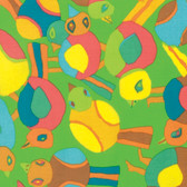 Brandon Mably PWBM063 Round Robin Lime Quilting Cotton Fabric By The Yard