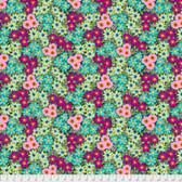 Jennifer Paganelli PWJP135 Judith's Fancy Sally Teal Cotton Fabric By Yard